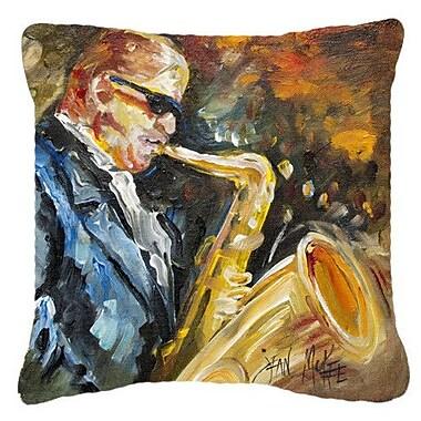Caroline's Treasures Jazz Sazophone Indoor/Outdoor Throw Pillow; 18'' H x 18'' W x 5.5'' D