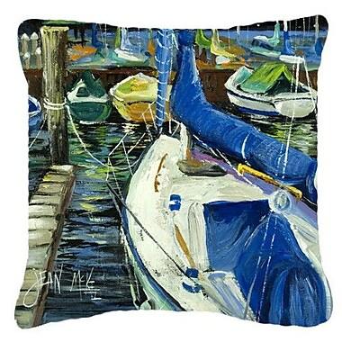 Caroline's Treasures Sailboats Indoor/Outdoor Throw Pillow; 18'' H x 18'' W x 5.5'' D