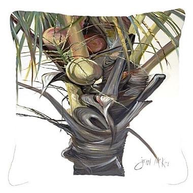 Caroline's Treasures Coconut Tree Top Indoor/Outdoor Throw Pillow; 14'' H x 14'' W x 4'' D