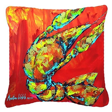 Caroline's Treasures Crawfish Hot Craw Indoor/Outdoor Throw Pillow; 14'' H x 14'' W x 4'' D