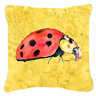 Caroline's Treasures Lady Bug Indoor/Outdoor Throw Pillow; 14'' H x 14'' W x 4'' D