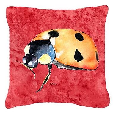 Caroline's Treasures Lady Bug Indoor/Outdoor Throw Pillow; 18'' H x 18'' W x 5.5'' D