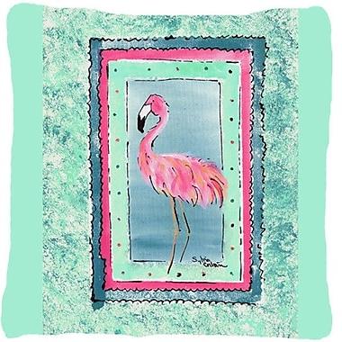 Caroline's Treasures Flamingo Indoor/Outdoor Throw Pillow; Turquoise