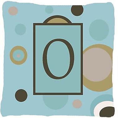 Caroline's Treasures Monogram Initial Blue Dots Indoor/Outdoor Throw Pillow; O