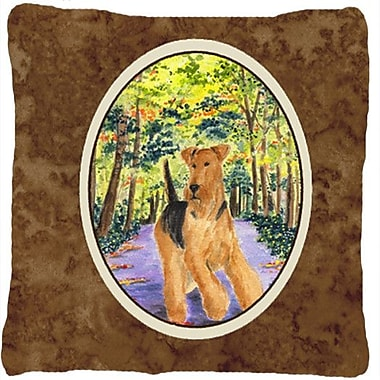 Caroline's Treasures Airedale Indoor/Outdoor Throw Pillow