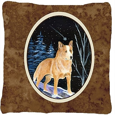 Caroline's Treasures Starry Night Australian Cattle Dog Indoor/Outdoor Throw Pillow