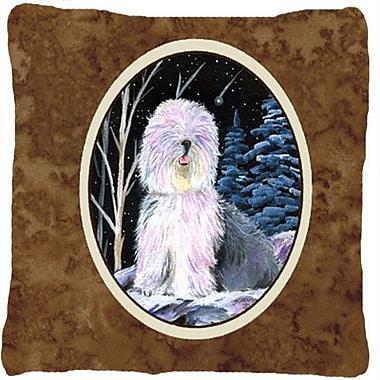 Caroline's Treasures Starry Night Old English Sheepdog Indoor/Outdoor Throw Pillow