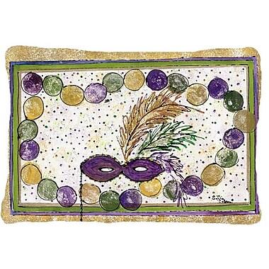 Caroline's Treasures Mardi Gras Beads Indoor/Outdoor Throw Pillow