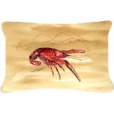 Caroline's Treasures Crawfish Indoor/Outdoor Throw Pillow