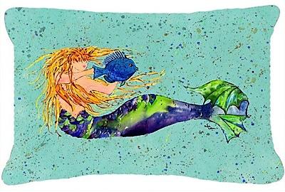 Caroline's Treasures Mermaid Indoor/Outdoor Throw Pillow