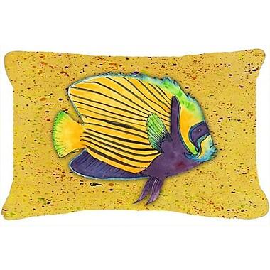 Caroline's Treasures Tropical Fish Indoor/Outdoor Throw Pillow; Yellow