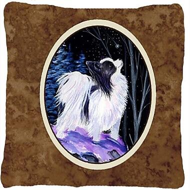 Caroline's Treasures Starry Night Papillion Indoor/Outdoor Throw Pillow