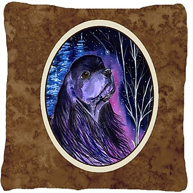 Caroline's Treasures Starry Night Cocker Spaniel Indoor/Outdoor Throw Pillow
