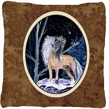 Caroline's Treasures Starry Night Chinese Crested Indoor/Outdoor Throw Pillow