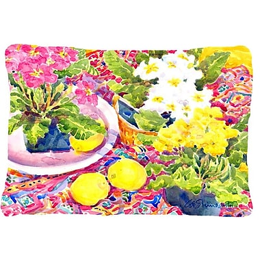 Caroline's Treasures Primroses Indoor/Outdoor Throw Pillow