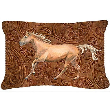 Caroline's Treasures Horse Indoor/Outdoor Throw Pillow