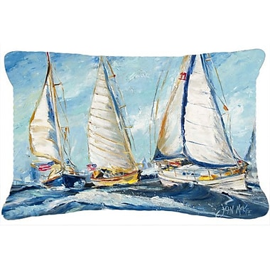 Caroline's Treasures Roll Me Over Sailboats Indoor/Outdoor Throw Pillow