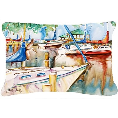 Caroline's Treasures Sailboats at The Gazebo Indoor/Outdoor Throw Pillow
