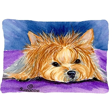 Caroline's Treasures Yorkie Indoor/Outdoor Throw Pillow