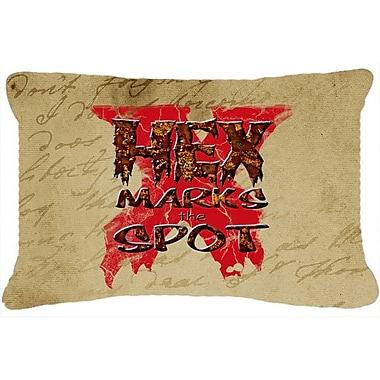 Caroline's Treasures Hex Marks The Spot Halloween Indoor/Outdoor Throw Pillow