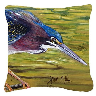 Caroline's Treasures Green Heron Indoor/Outdoor Throw Pillow; 14'' H x 14'' W x 4'' D