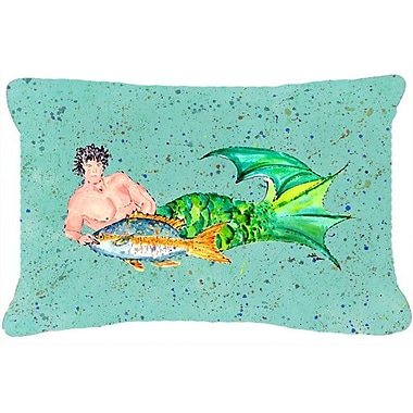 Caroline's Treasures Merman Indoor/Outdoor Throw Pillow