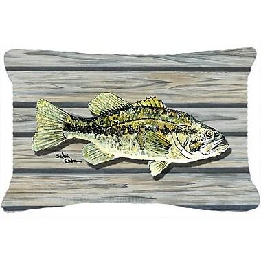 Caroline's Treasures Fish Bass Small Mouth Indoor/Outdoor Throw Pillow