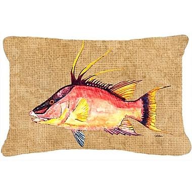 Caroline's Treasures Hog Snapper Indoor/Outdoor Throw Pillow
