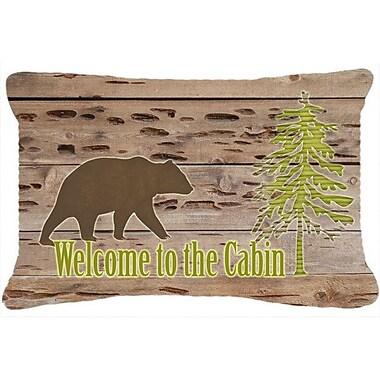 Caroline's Treasures Welcome To The Cabin Indoor/Outdoor Throw Pillow