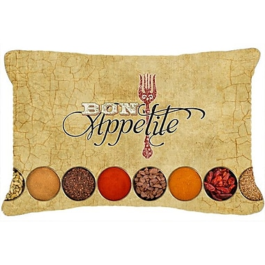 Caroline's Treasures Bon Appetite and Spices Indoor/Outdoor Throw Pillow