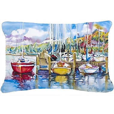 Caroline's Treasures Paradise Yacht Club Sailboats Indoor/Outdoor Throw Pillow