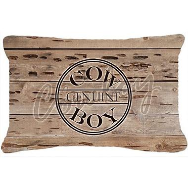 Caroline's Treasures Genuine Cow Boy Branded Indoor/Outdoor Throw Pillow