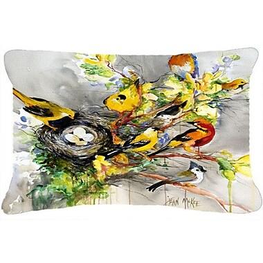 Caroline's Treasures Spring Birds Indoor/Outdoor Throw Pillow