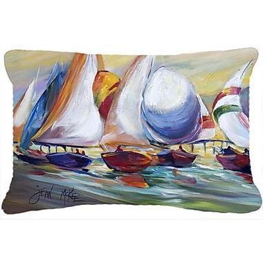 Caroline's Treasures Sailboat Race in Dauphin Island Indoor/Outdoor Throw Pillow