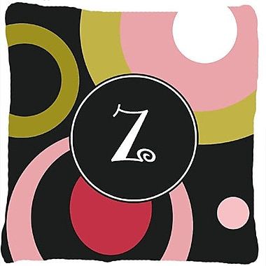 Caroline's Treasures Monogram Retro in Black Indoor/Outdoor Throw Pillow; Z