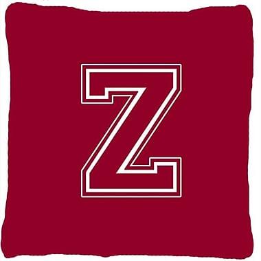 Caroline's Treasures Monogram Initial Maroon and White Indoor/Outdoor Throw Pillow; Z