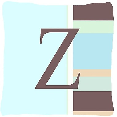 Caroline's Treasures Letter Initial Monogram Blue Stripes Indoor/Outdoor Throw Pillow; Z