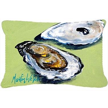 Caroline's Treasures Oysters Two Shells Indoor/Outdoor Throw Pillow