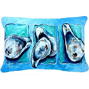 Caroline's Treasures Oysters Indoor/Outdoor Throw Pillow
