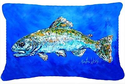 Caroline's Treasures Fish Headed Downstream Indoor/Outdoor Throw Pillow