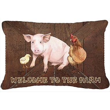 Caroline's Treasures Welcome To The Farm Indoor/Outdoor Throw Pillow