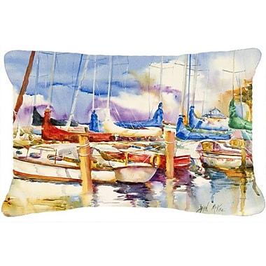 Caroline's Treasures End Stall Sailboats Indoor/Outdoor Throw Pillow