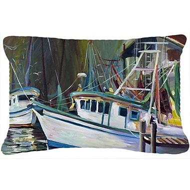 Caroline's Treasures Joe Patti Shrimp Boat Indoor/Outdoor Throw Pillow