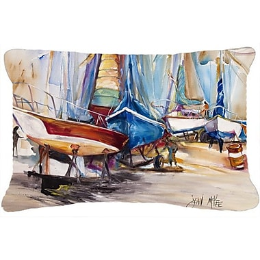 Caroline's Treasures On The Hill Sailboats Indoor/Outdoor Throw Pillow