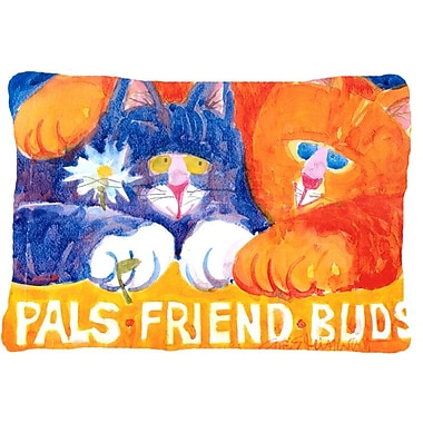 Caroline's Treasures Cats Pals Friends Buds Indoor/Outdoor Throw Pillow