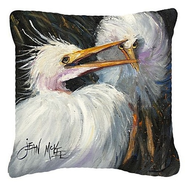 Caroline's Treasures White Egret Indoor/Outdoor Throw Pillow; 14'' H x 14'' W x 4'' D