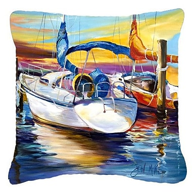 Caroline's Treasures Symmetry Again Sailboats Indoor/Outdoor Throw Pillow; 18'' H x 18'' W x 5.5'' D