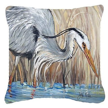 Caroline's Treasures Blue Heron Indoor/Outdoor Throw Pillow; 18'' H x 18'' W x 5.5'' D
