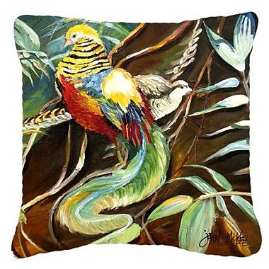 Caroline's Treasures Mandarin Pheasant Indoor/Outdoor Throw Pillow; 18'' H x 18'' W x 5.5'' D