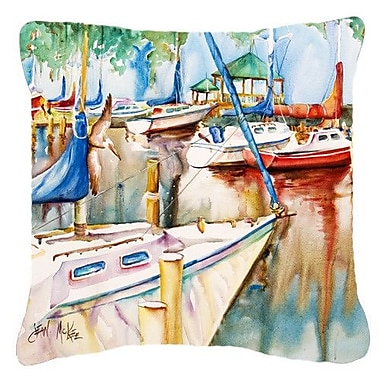 Caroline's Treasures Gazebo and Sailboats Indoor/Outdoor Throw Pillow; 14'' H x 14'' W x 4'' D